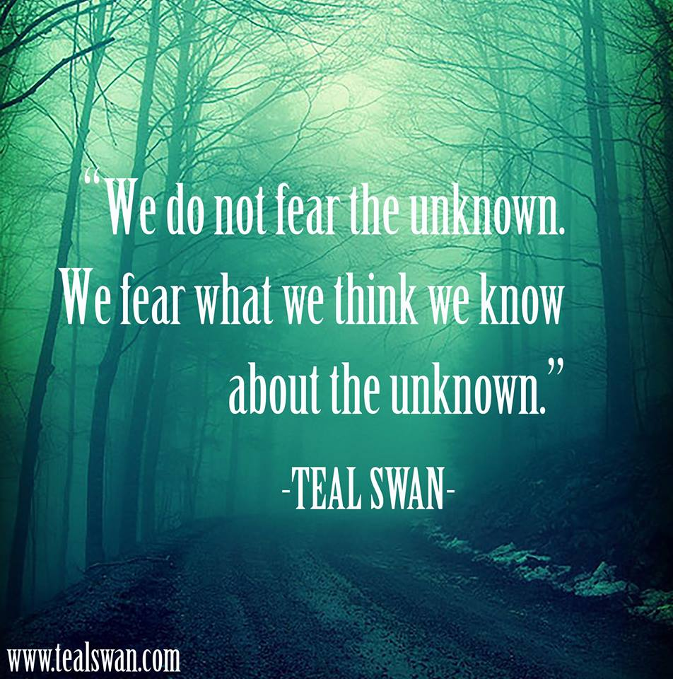Fear Quotes Fear Of The Unknown Quote  Blog Posts  Teal Swan