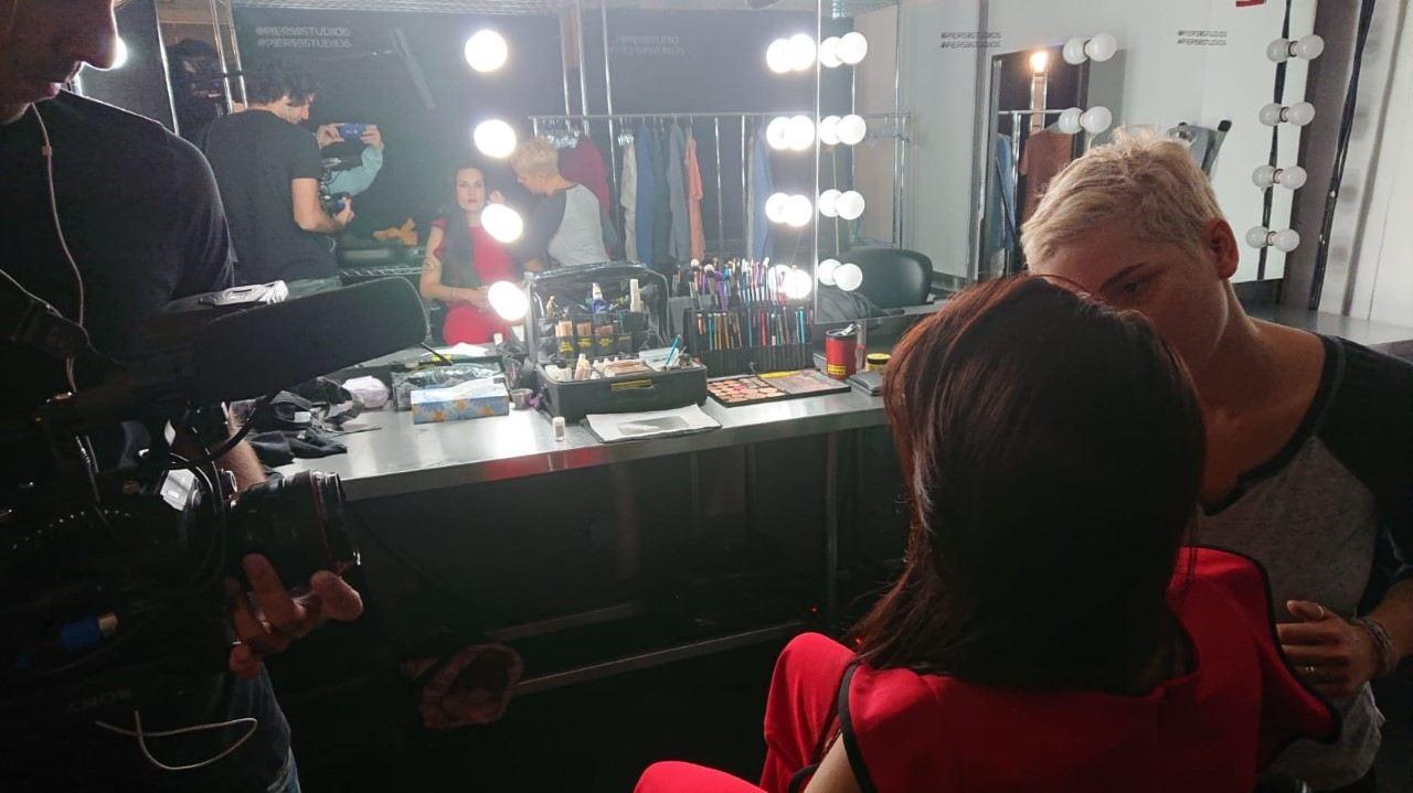 Teal Swan in makeup