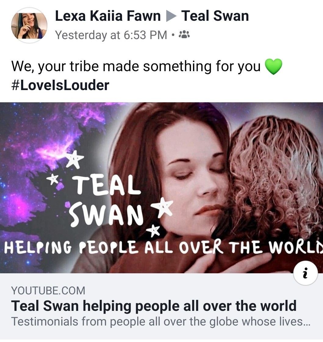 Teal Swan helping