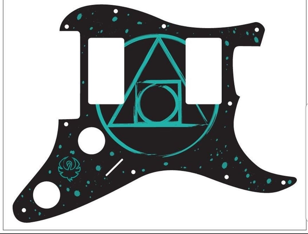 """Guitar pick guard """"skin"""" by @rays_mind"""